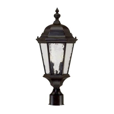Acclaim Lighting Telfair Collection Post-Mount 2-Light Outdoor Marbleized Mahogany Light Fixture