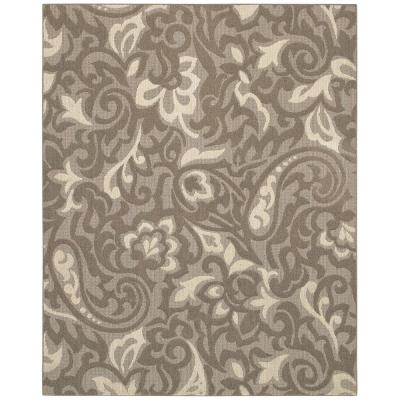 Mohawk Home Forte Taupe/Ivory 10 ft. x 13 ft. Area Rug