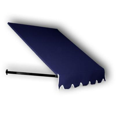 35 ft. Dallas Retro Window/Entry Awning (24 in. H x 48 in. D) in Navy Product Photo