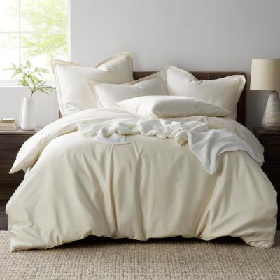 Oxygen MicroCotton Sateen 340-Thread Count Solid Duvet Cover