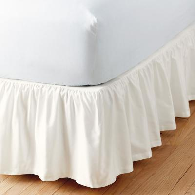 Simple Tuck 14 in. Gathered Solid Bed Skirt