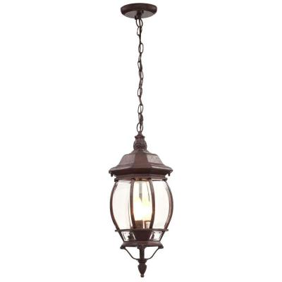 Glomar Concord 3-Light Outdoor Hanging Old Bronze Lantern