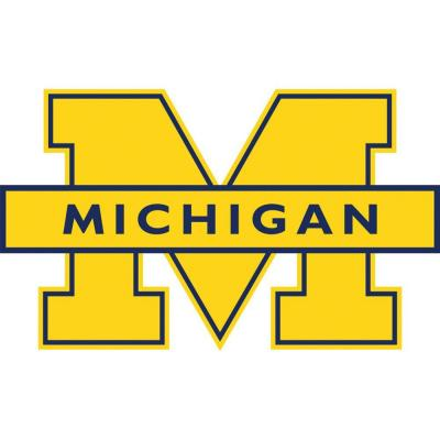 Fathead 52 in. x 30 in. Michigan Wolverines Logo Wall Appliqu