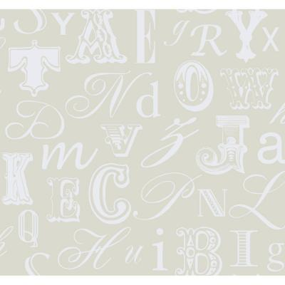 60.75 sq. ft. Word Play Wallpaper
