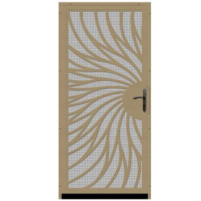 Solstice Outswing Security Door with Insect Screen and Oil Rubbed Bronze Hardware