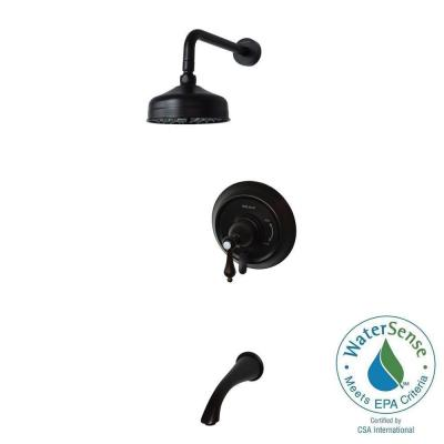 Pressure Balanced Single-Handle 1-Spray Tub and Shower Faucet in Oil Rubbed Bronze Product Photo