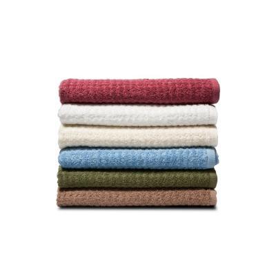 Textured 6-Piece 100% Combed Cotton Bath Towel Set
