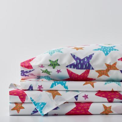 Bright Stars Graphic 200-Thread Count Organic Cotton Percale Sheet Set