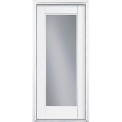 Masonite 36 in x 80 in full lite primed smooth for Full view exterior door