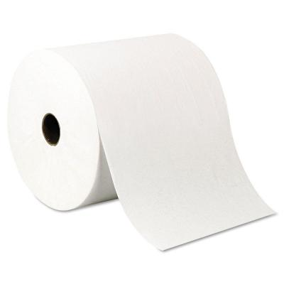 White Recycled Nonperforated High-Capacity Hard Roll Paper Towels (6 Rolls)