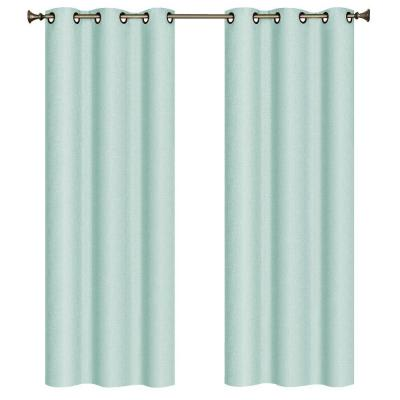 Marina Faux Linen Arctic Room Darkening Grommet Curtain Panel, 38 in. W x 84 in. L Product Photo