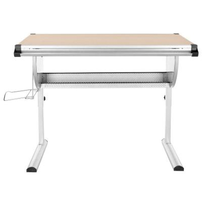 Emerson Writing Desk in Natural and Silver Product Photo