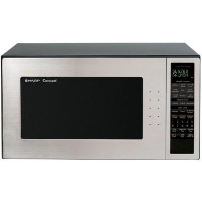 Sharp Refurbished 2.0 cu. ft. Countertop Microwave in Stainless Steel with Sensor Cooking-DISCONTINUED