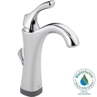 Delta Addison Single Hole Single-Handle Bathroom Faucet in Chrome with Touch2O.xt Technology