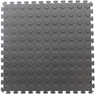 Norsk-Stor Multi-Purpose 18.3 in. x 18.3 in. Dove Gray PVC Garage Flooring Tile with Raised Coin Pattern (6-Pieces)