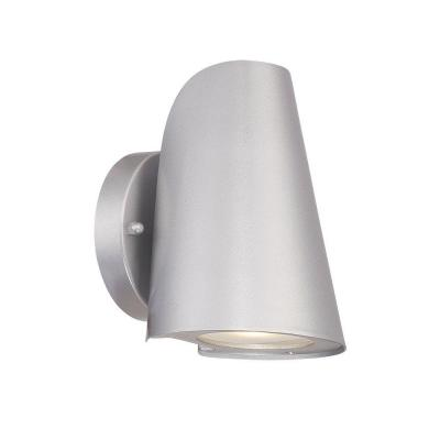 Silver Chrome Wall Lights : Acclaim Lighting 1-Light Brushed Silver LED Wall Sconce-1405BS - The Home Depot