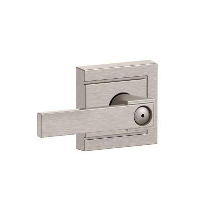 Northbrook Satin Nickel with Upland Trim Bed and Bath Lever