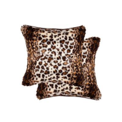 Belton Georgetown Lynx Faux Fur Pillow (Set of 2)