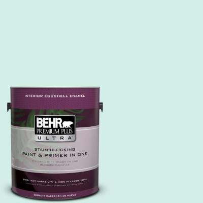 BEHR Premium Plus Ultra Home Decorators Collection 1-gal. #HDC-MD-19 Soft Mint Eggshell Enamel Interior Paint