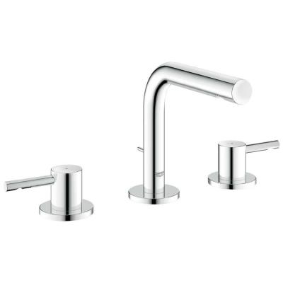 GROHE Essence 8 in. Widespread 2-Handle Low Arc Bathroom Faucet in StarLight Chrome