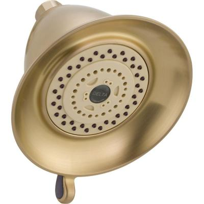 delta 3 setting 3 spray touch clean showerhead in champagne bronze rp34355cz the home depot. Black Bedroom Furniture Sets. Home Design Ideas