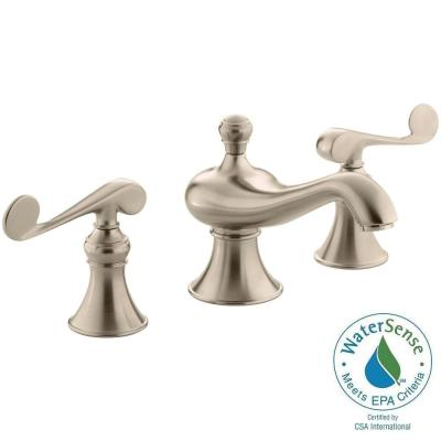 KOHLER Revival 8 in. Widespread 2-Handle Low-Arc Water-Saving Bathroom Faucet in Vibrant Brushed-Bronze