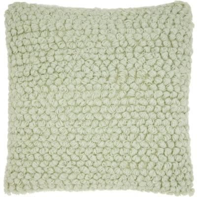 Life Styles Woven Loops Wool and Cotton Throw Pillow