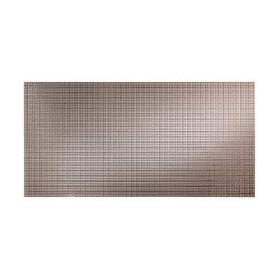 Fasade Square 96 in. x 48 in. Decorative Wall Panel in Galvanized Steel