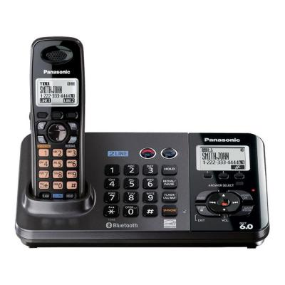 Panasonic DECT 6.0+ 2-Line Expandable Cordless Phone with Caller ID and Base and Handset Speakerphone