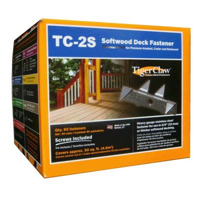 Tiger Claw TC-2S Hidden Deck Fasteners (90-Pack)