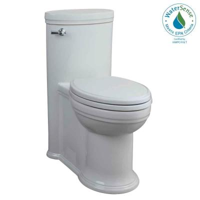 Porcher Archive 1-Piece High Efficiency Elongated Toilet in White-DISCONTINUED