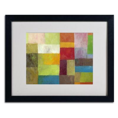 16 in. x 20 in. Abstract Color Panels 4 Matted Framed