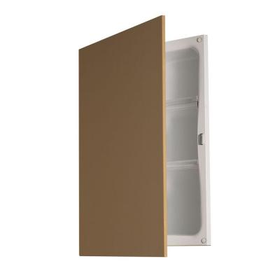 Hideaway 16-1/4 in. W x 21-7/16 in. H x 4-1/2 in. D. Unfinished Recessed Bathroom Medicine Cabinet
