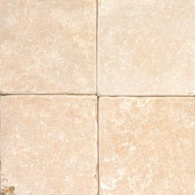 MS International 4 in. x 4 in. Oasis Gold Limestone Floor and Wall Tile TRAMGLD44TUM