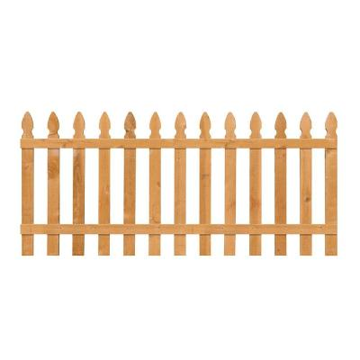 Incense Cedar French Gothic Fence Panel (Common: 3.5 ft. x 8 ft.; Actual: 0.625 in. x 3.5 in. x 96.0 in.) Product Photo