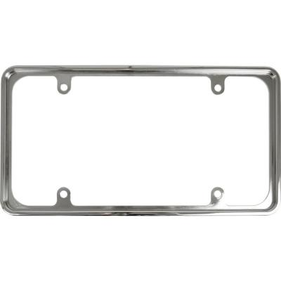 recessed metal license plate frame in chrome 92811 the home depot