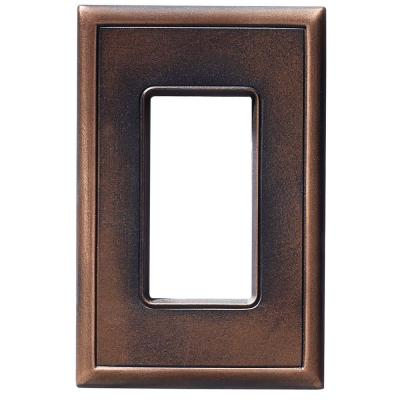 1 GFCI Screwless Wall Plate - Oil Rubbed Bronze Product Photo