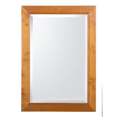 Home Decorators Collection Exhibit 34 in. L x 23-1/2 in. W Wall Mirror in Rich Cinnamon