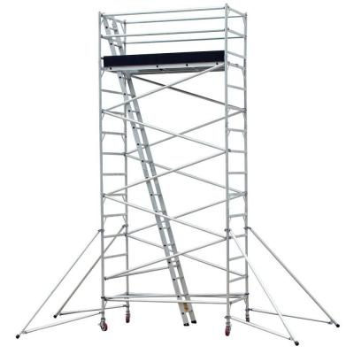 PRO-SERIES 20 ft. Mobile Aluminum Scaffold Tower 1000 lb. Load Capacity