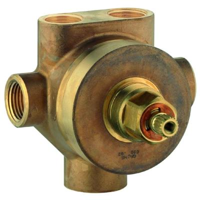 1/2 in. Brass FIP 5-Port Diverter Rough-In Valve Product Photo