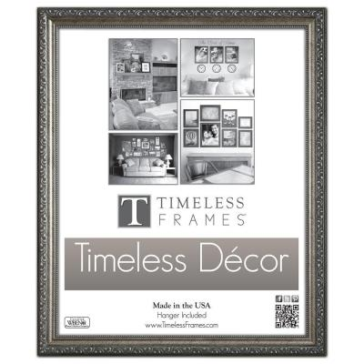 Timeless Frames Carrington 1-Opening 16 in. x 20 in. Pewter Picture Frame