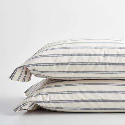 Narrow Stripe 200-Thread Count Cotton Percale Pillowcase (Set of 2)