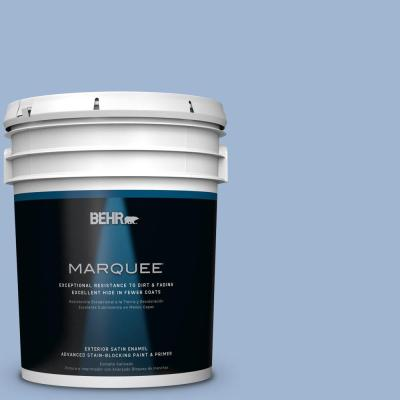 BEHR MARQUEE 5-gal. #PPU14-10 Blue Suede Satin Enamel Exterior Paint