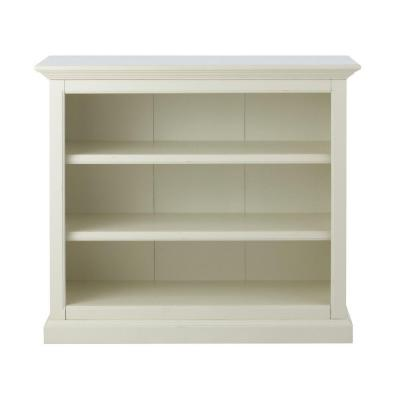 Ingrid 41.5 in. W 3-Shelf Open Bookcase in Rubbed Ivory Product Photo