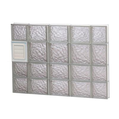 34.75 in. x 25 in. x 3.125 in. Ice Pattern Glass Block Window with Dryer Vent Product Photo