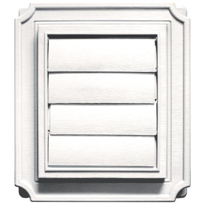 Scalloped Exhaust Siding Vent #117-Bright White Product Photo