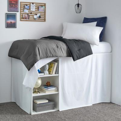 Twin XL-42 in. Drop Solid Dorm Cotton Bedskirt