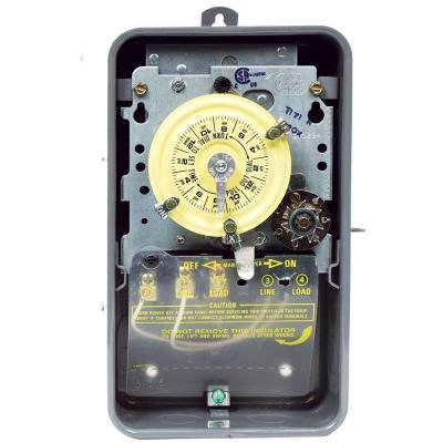 Intermatic T170 Series 40 Amp 24-Hour Mechanical Time Switch with Skipper and Outdoor Enclosure - Gray
