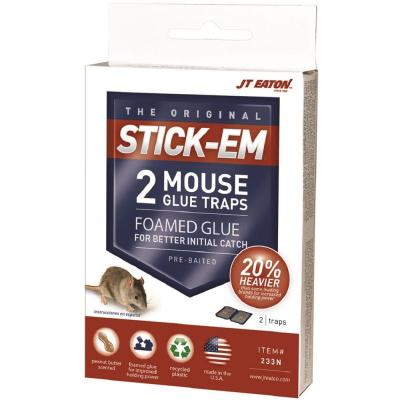 Stick-Em Mouse Size Peanut Butter Scented Glue Trap (2-Pack)