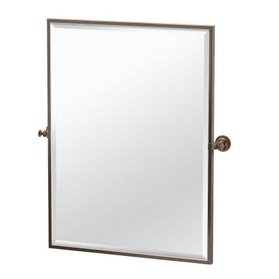 Tavern 28 in. x 32.50 in. Framed Single Large Rectangle Mirror